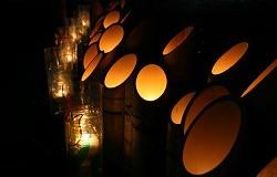 夜桜と竹灯篭宵まつり