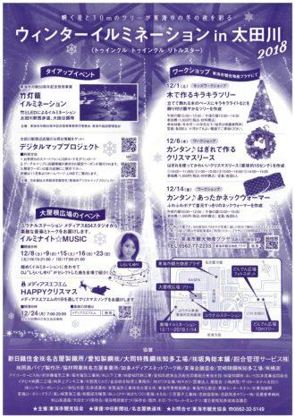 ウィンターイルミネーションin太田川2018